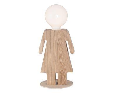 Lampada da tavolo in legno Lei, 15x35 cm