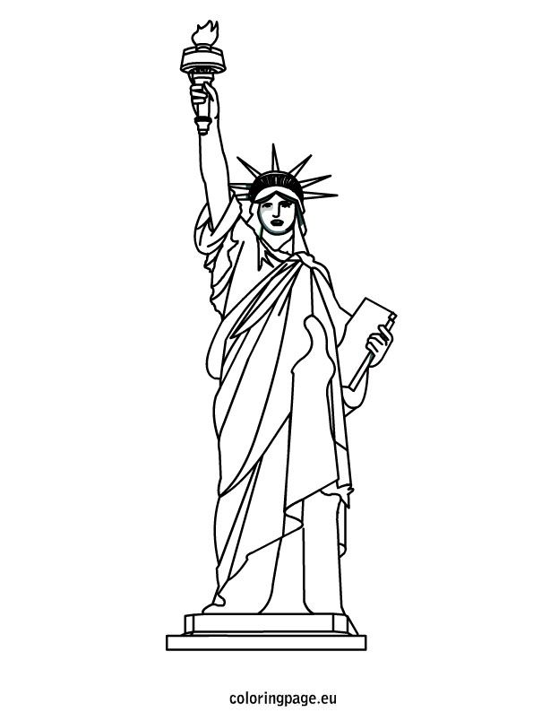 Line Art Year 2 : Statue of liberty coloring sheet th july pinterest