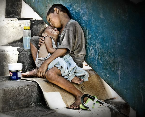 disadvantaged children of the world -brothers by Thomas Tham