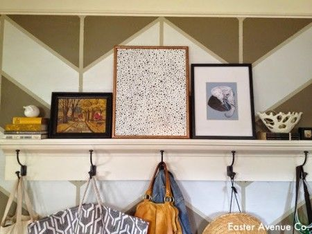 chevron painted wall  - Easter Avenue Co on @Remodelaholic