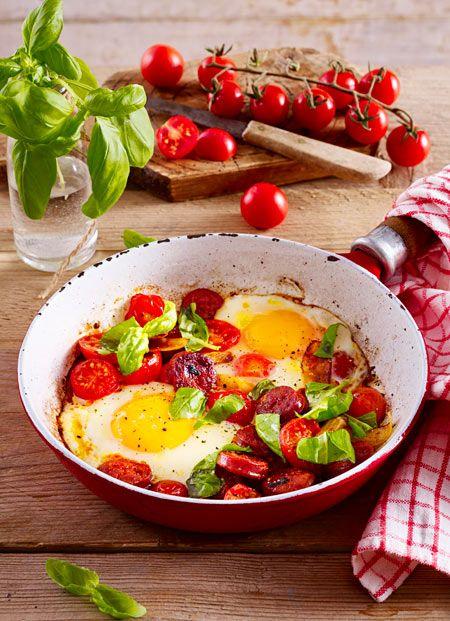 Ein üppiges Frühstück, das für ausreichend Power sorgt und richtig gut schmeckt. Leeecker!