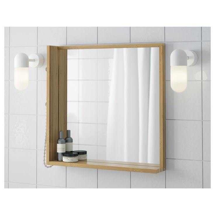 RAGRUND ayna bambu 53x50 cm   IKEA Banyolar