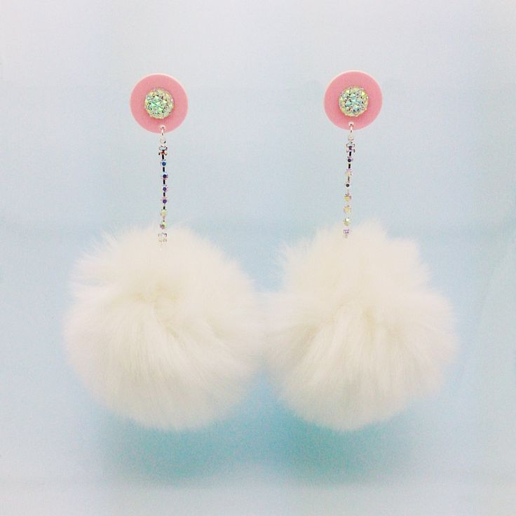 Image of POM POM Earrings - 4 different colors