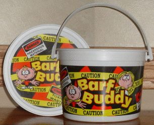 Barf Buddy Puke Bucket. There is no point denying the amount of barfing you will do during chemo. A great gift for that special sickie in your life.