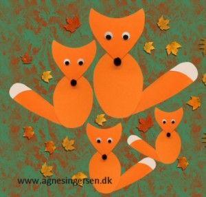 Så er der kommet nemme og hurtig lavede ræve på bloggen: http://agnesingersen.dk/blog/raev - Easy kids crafts fox . Kinderbastelideen Fuchs