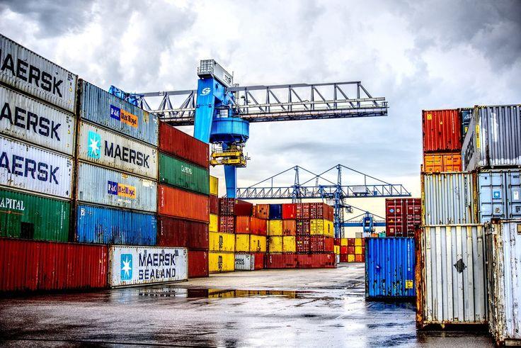 puerto, contenedores, carga, grúas, comercio, 1709070802