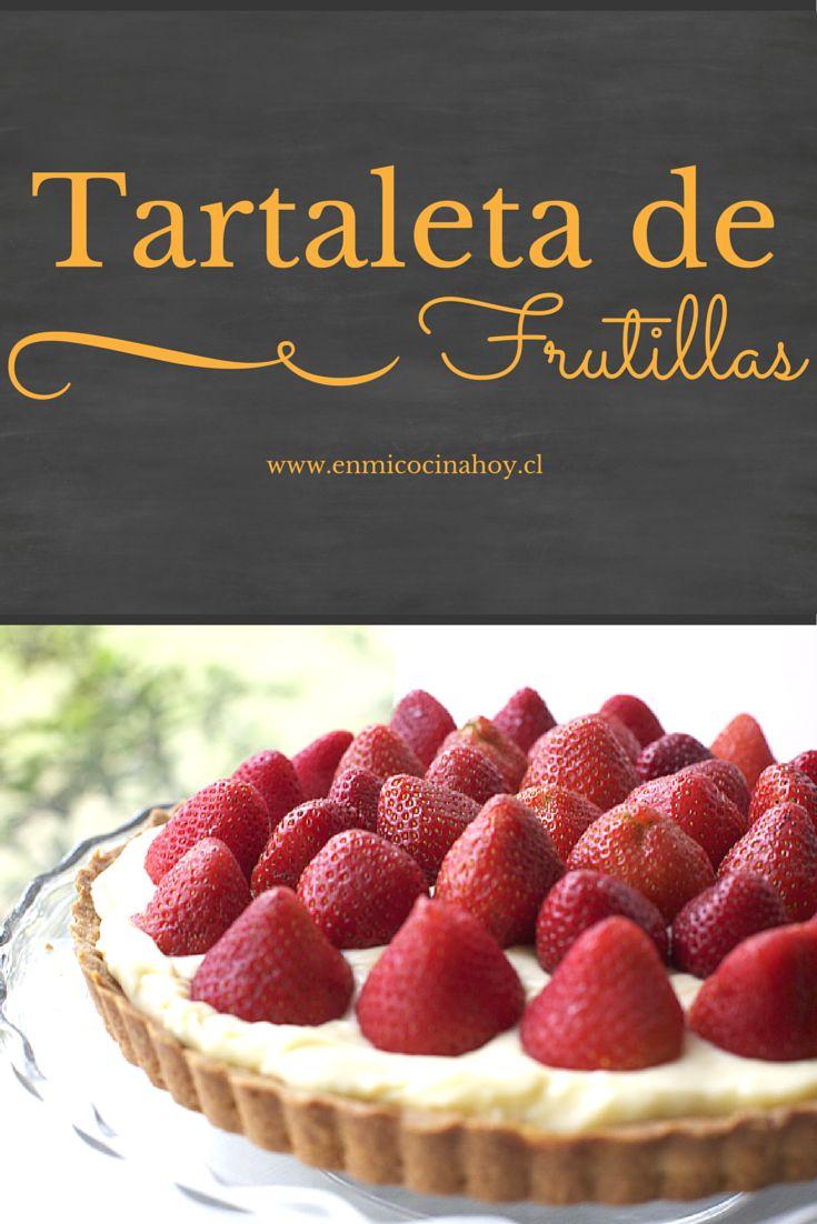 Una tartaleta de frutillas es perfecta para la once de cualquier domingo de verano o para el postre. Esta receta es practica y bien explicada.