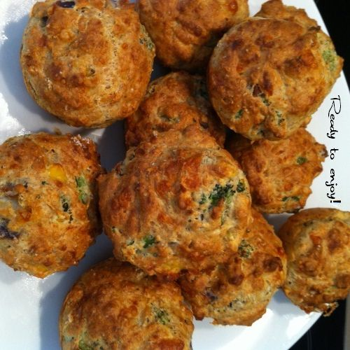 My favourite New Zealand recipe for Savoury Muffins. It's simple, quick and you can experiment with the savoury fillings. #family #meals #healthy# savoury #muffins #recipe #newzealand