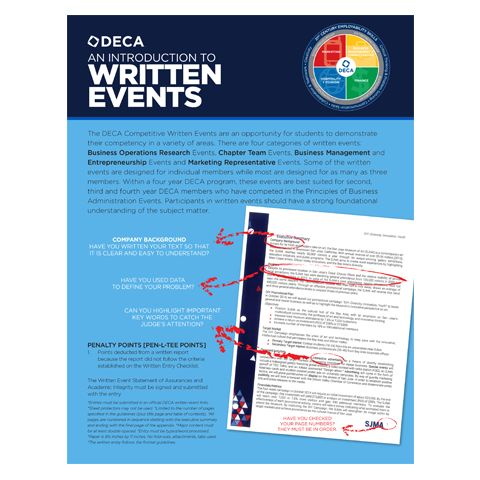 Introduction to Written Events from DECA Images