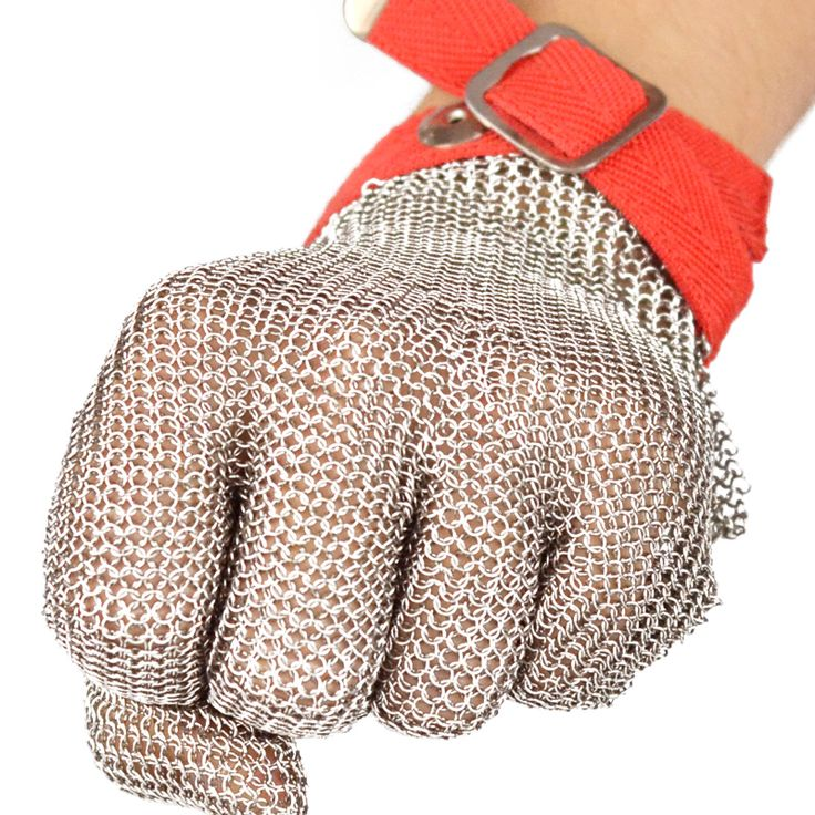 anti-cutting steel wire protecting gloves with excellent steel rings reinforced and strong wear resistance safety gloves