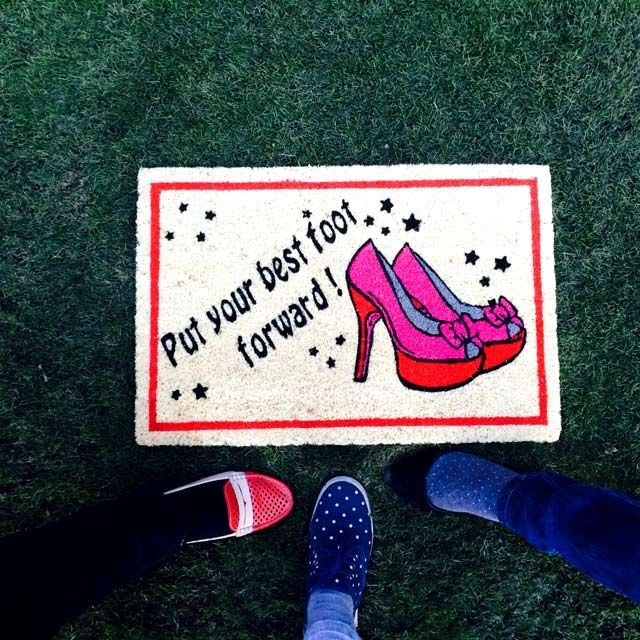 Put your best foot forward with this cute girly #mat which will #oomph your doorstep.