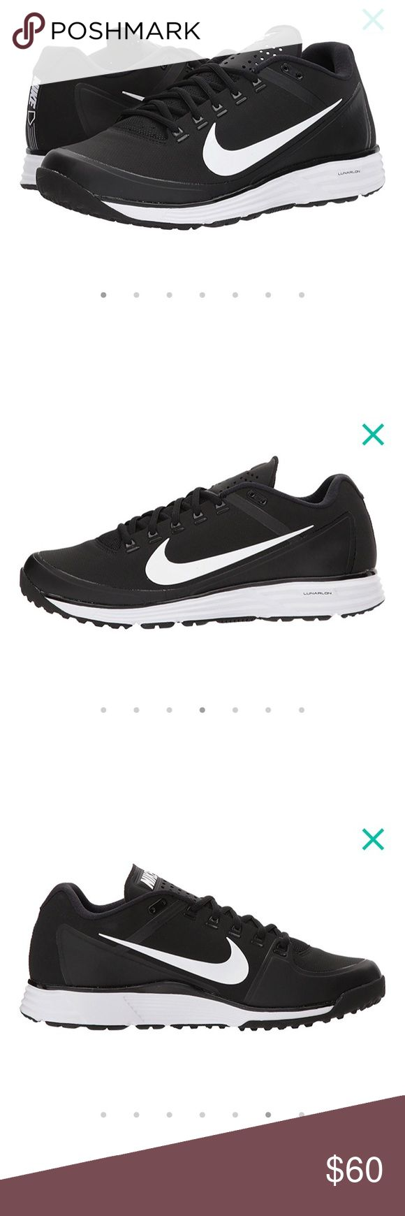 Nike Men Turf Shoes Black and White Size 8.5 NEW These are brand new and have never been worn! I just want to get a different pair and can't return these because they are from a bulk team order. Nike Shoes Athletic Shoes