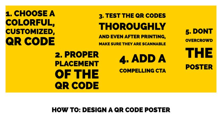 You can use QR codes on a poster to increase engagement