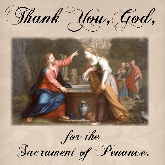 Thank You, God, for the Sacrament of Penance.  #DaughtersofMaryPress #DaughtersofMary
