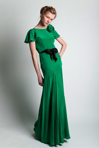 Belle & Bunty Emerald Willow Maxi Dress. Green wedding dress/ bridesmaid dress