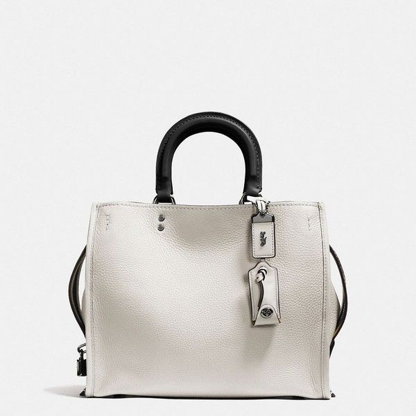 Coach Rogue Bag (1 070 AUD) ❤ liked on Polyvore featuring bags, handbags, shoulder bags, white, white shoulder bag, coach shoulder bag, pocket purse, coach handbags and coach purses
