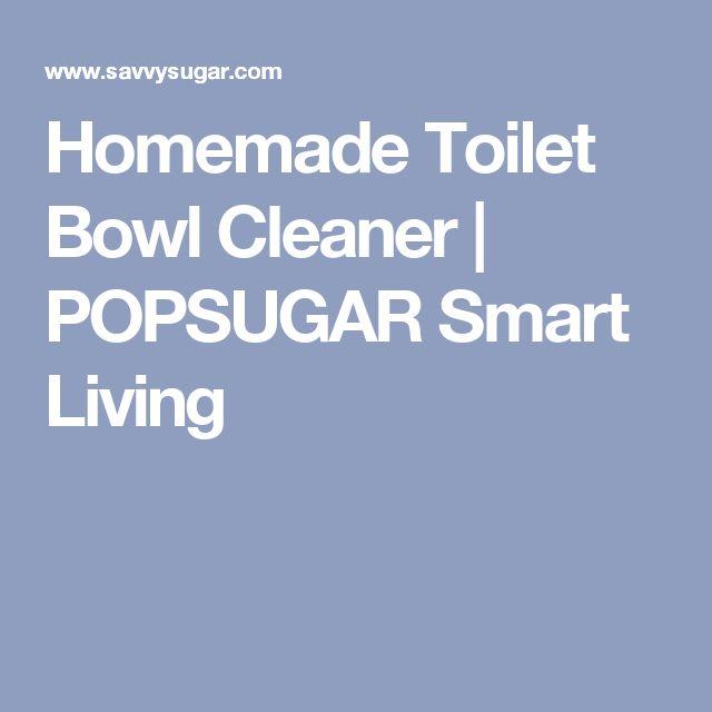 Homemade Toilet Bowl Cleaner   POPSUGAR Smart Living