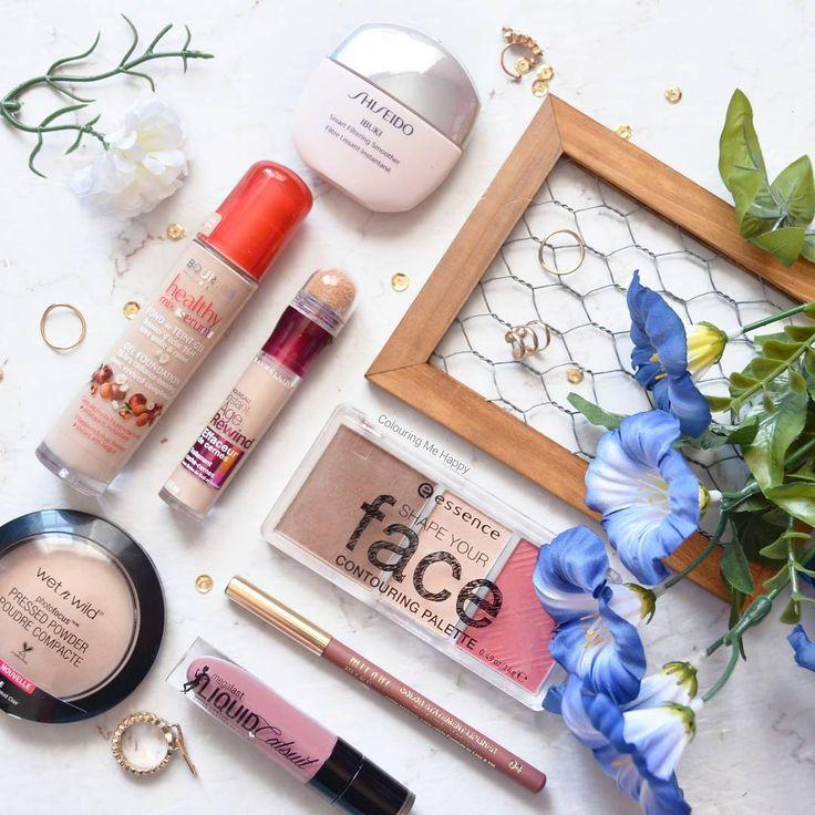 Makeup Inspiration:  Bourjois Healthy Mix Serum Foundation Essence Shape your face contouring palette Wet n Wild Catsuit liquid lipsticks Maybelline Age Rewind concealer