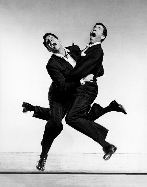 Duo:  Vereint knipste Philippe Halsman 1951 Dean Martin und Jerry Lewis