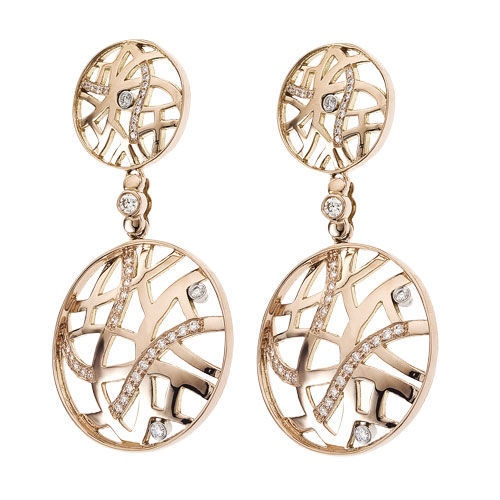 Diamond Jewellers :: 18KT ROSE GOLD SAFARI LARGE EARRINGS