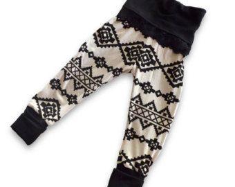 Bebés y niños pequeños tribales polainas o Maxi falda con pretina superior de encaje de Yoga