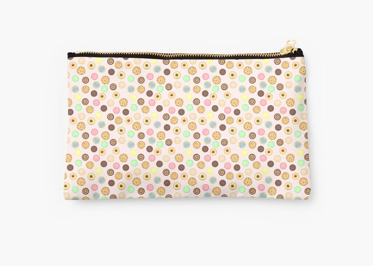 Cookies Pattern Studio pouch by AnMGoug on Redbubble. #cookies #pattern #cookie