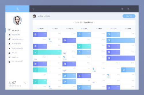 Calendar by @DavidePacilio #ui #inspiration #interface #ios #design
