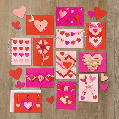 These tiny little Valentines are extra sweet. Get creative with mini cards, envelopes and all kinds of fun embellishments.