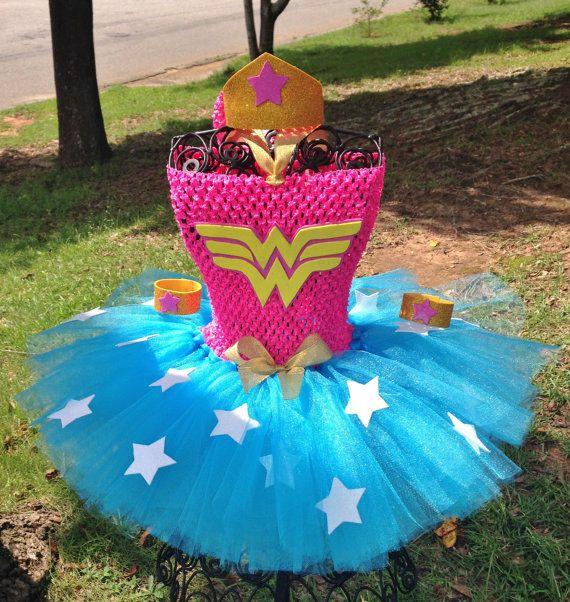 Pink Wonder Woman Super Hero Tutu Costume by AngelinaRoseInspired                                                                                                                                                                                 More