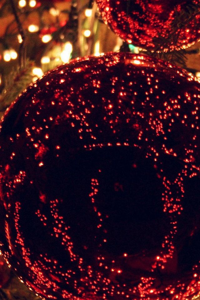 Christmas Light Balls Holiday Life City #iPhone #4s #wallpaper iPhone X Wallpaper 361625045060661100 11