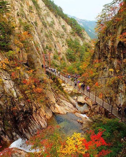 Parque nacional Seoraksan  Corea del Sur..