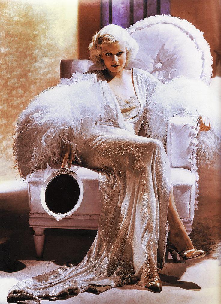 Jean HarlowDinner, A Mini-Saia Jeans, Old Hollywood, Hollywood Glamour, Vintage Glamour, Beautiful, Jean Harlow, Jeanharlow, Jeans Harlow