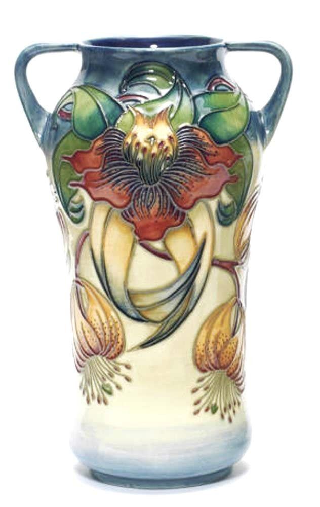 Moorcroft Anna Lily Large Two Handled Vase designed by Nicola Slaney