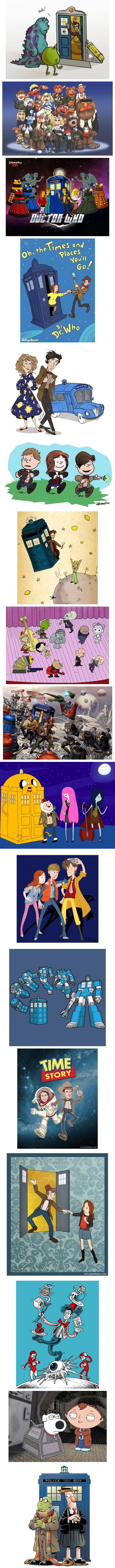 Doctor Who mash ups.