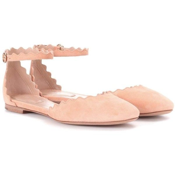 Chloé Lauren Suede Ballerinas (22.150 UYU) ❤ liked on Polyvore featuring shoes, flats, neutrals, ballet flats, suede shoes, suede ballet flats, ballerina flats and suede leather shoes