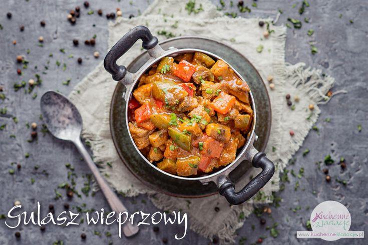 Gulasz wieprzowy z papryką i pieczarkami | Bezglutenowe Kuchenne Wariacje
