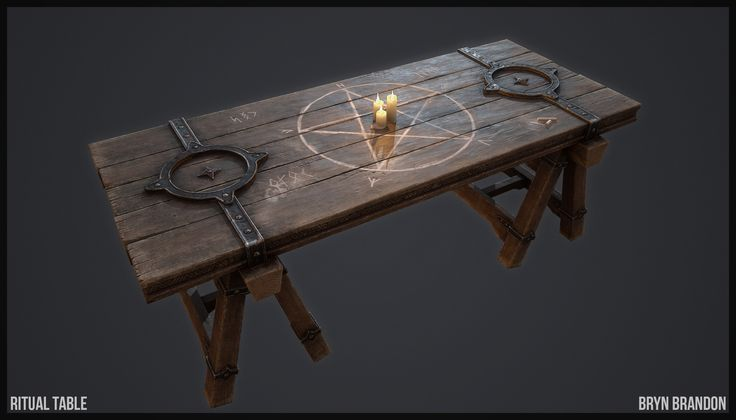 Table prop for a fantasy game. I was going for something that could fit into LOTR or skyrim etc.  I got the idea from a concept by Kyubrush I used DDO for texturing. Really nice software for painting textures.