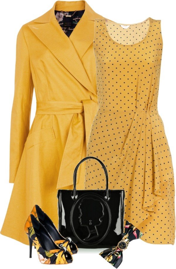 """""""Sunny Disposition"""" by curvacious ❤ liked on Polyvore"""