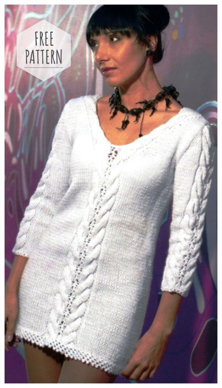 WHITE TUNIC CROCHET FREE PATTERN