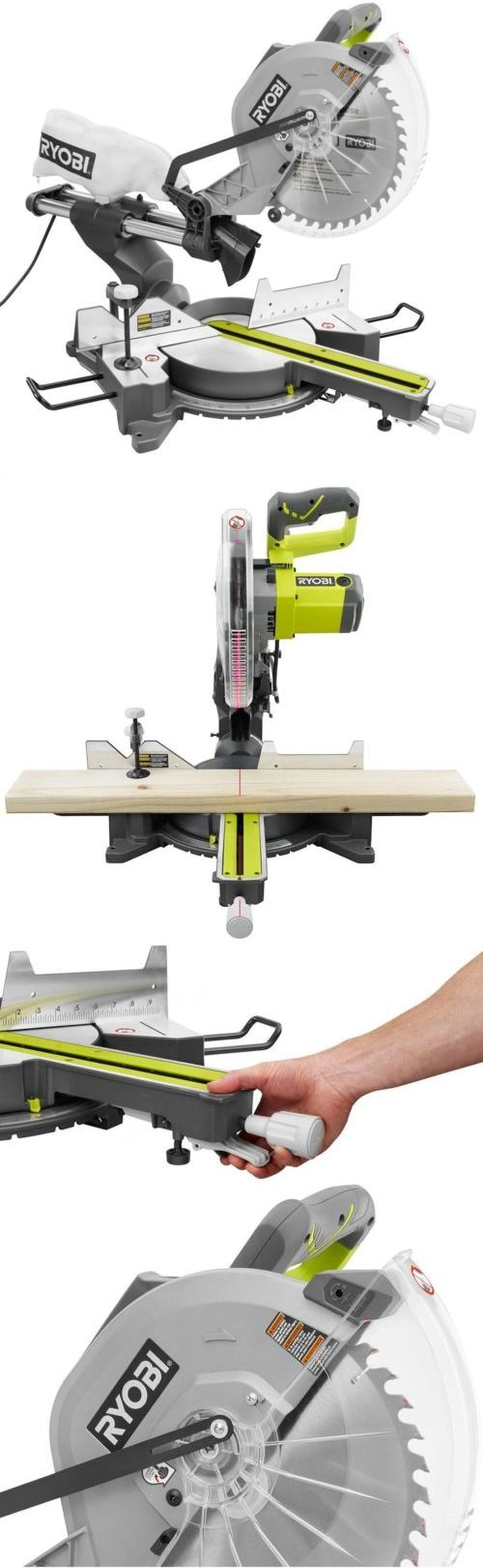 Miter and Chop Saws 20787: Ryobi Sliding Miter Saw 12 In. Adjustable Laser Heavy Duty 15 Amp Motor -> BUY IT NOW ONLY: $286.35 on eBay!