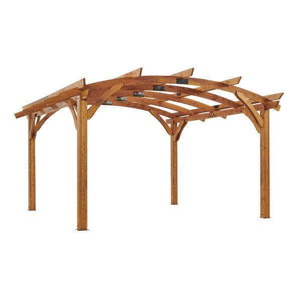 The Outdoor Greatroom Company Sonoma 16 Ft W X 16 Ft D Solid Wood Pergola Reviews Wayfair Wood Pergola Pergola Steel Pergola