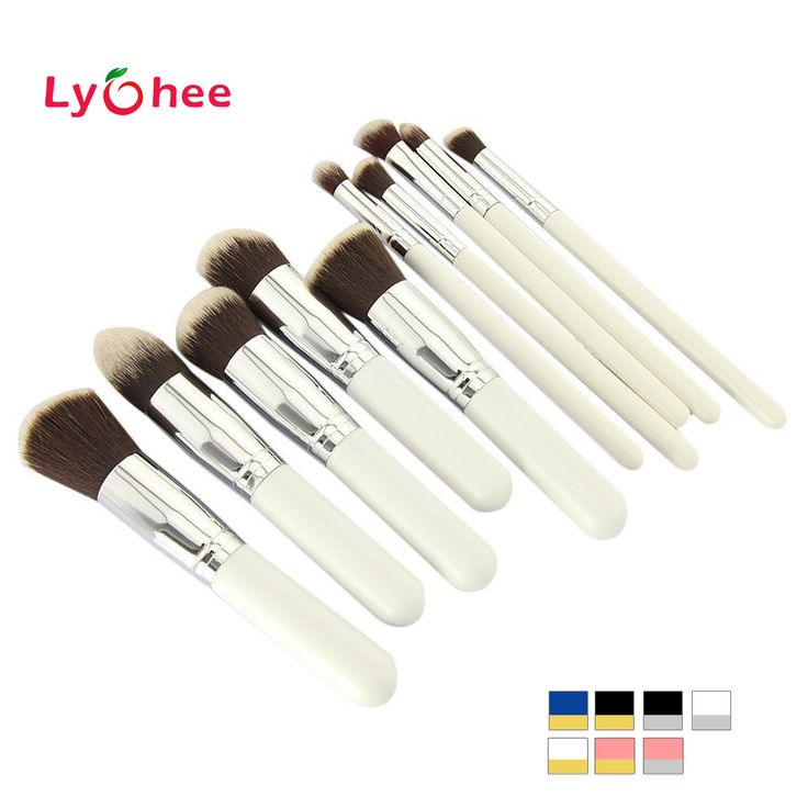 10 pcs Professional Makeup Brush Set Maquiagem Beauty Foundation Powder Eyeshadow Cosmetics Make Up Brushes Kabuki Brush Tool Professional Makeup Brush Set
