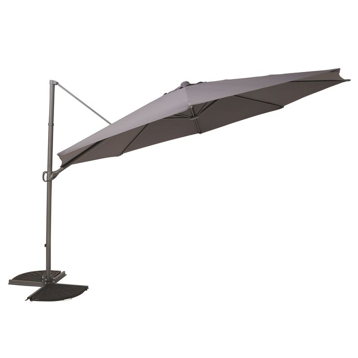 Mallorca 3.5m Anthracite Overhanging Parasol | Departments | DIY at B&Q