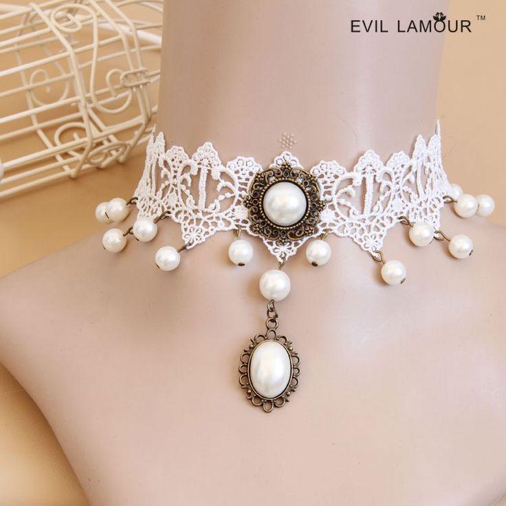 Принцесса лолита ожерелье Лолита невесты и подружек невесты аксессуары кружева ожерелье женщина короткое ожерелье воротник ложных воротник готы