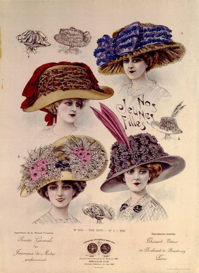 Nos jeunes filles chapeaux de l'exposition universelle de 1900