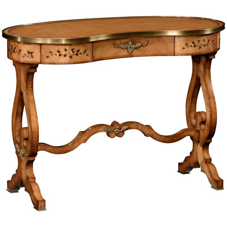 Jonathan Charles Satinwood Kidney Dressing Table