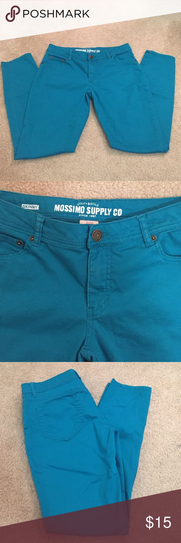 Teal skinny pants! Light weight. Stretchy material. Skinny. Mossimo Supply Co Pants Skinny