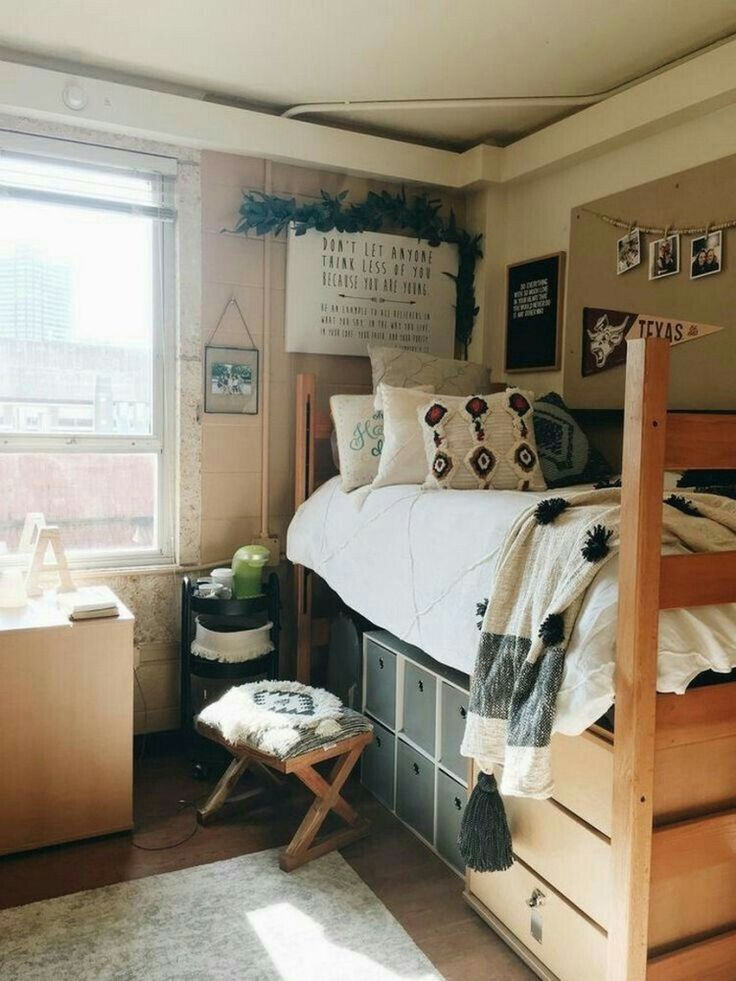 Awesome College Dorm Rooms: 82 Awesome College Bedroom Decor Ideas And Remodel 49 In