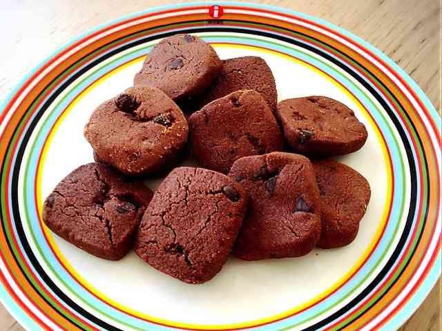 袋1つで簡単10分ザクザクココアクッキーの画像