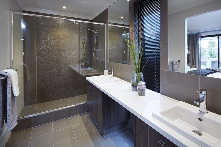 Ensuite design in 'The Macquarie' display home by #VenturaHomes. #interiordesign